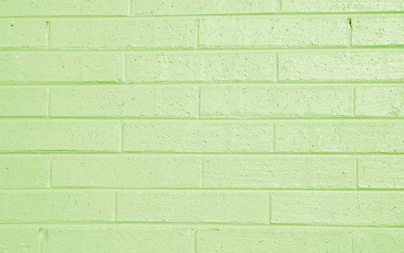 Lime Green Painted Brick Wall Texture