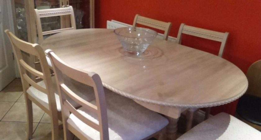 Limed Oak Dining Room Table Chairs Glass Cabinet