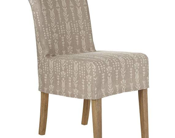 Linen Slip Cover Echo Low Back Dining Chair