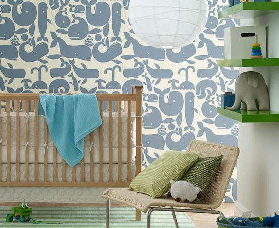 Little Whales Contemporary Nursery