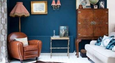 Living Room Blue Feature Wall Easy