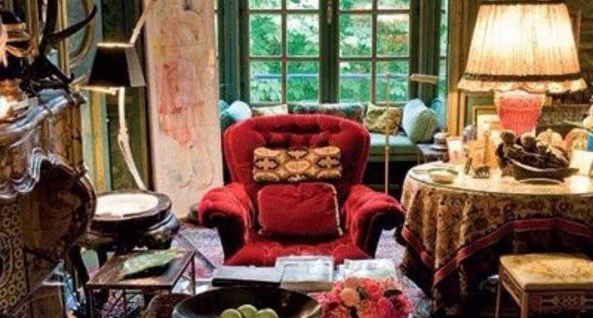 Living Room Bohemian Interior Design
