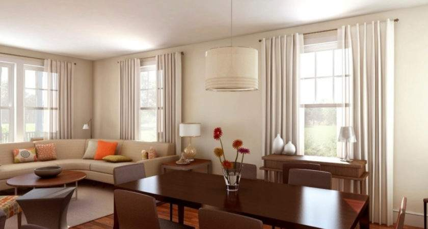 Living Room Dining Combo Layout Ideas Intended