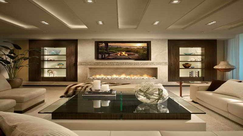 Living Room Most Beautiful Rooms Fireplace