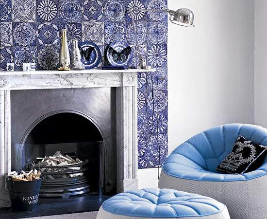 Living Room Tiles Fireplace Idea Ideal Home