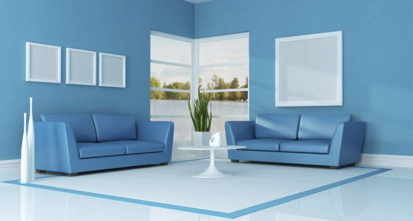 Living Room Two Colour Combination