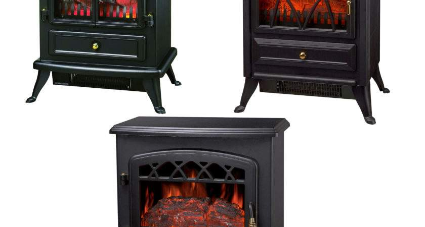 Log Burning Flame Effect Electric Fire Heater