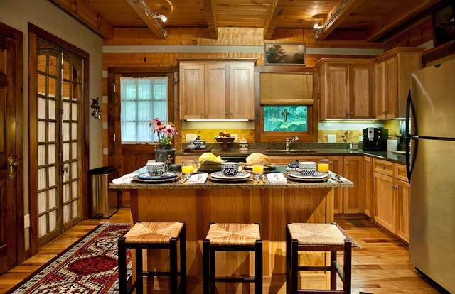 Log Cabin Kitchen Rustic Nashville
