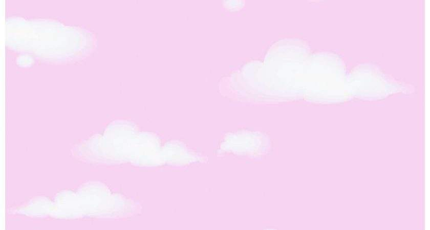 Love Clouds Childrens Pink White