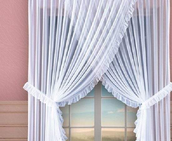 Lovely White Long Short Voile Curtain Home Window