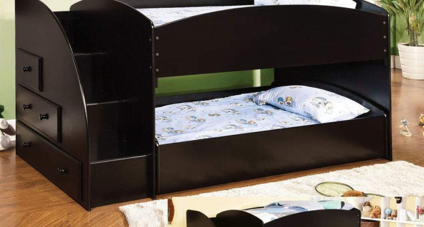 Low Bunk Beds Kids Stairs