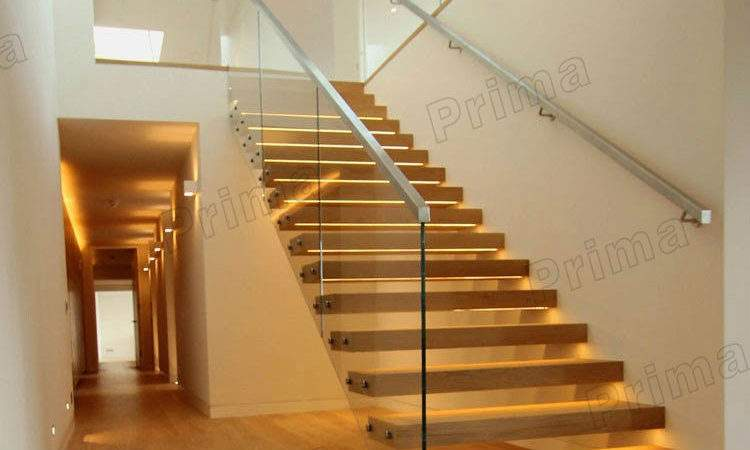 Low Cost Best Selling Floating Stairs Wood
