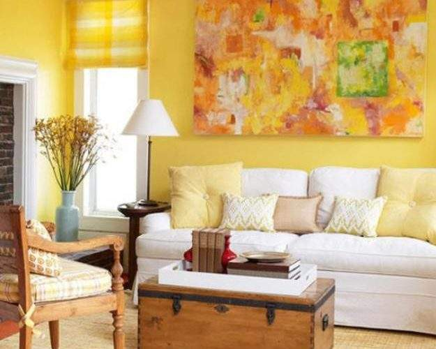Luminous Interior Design Ideas Shining Yellow Color
