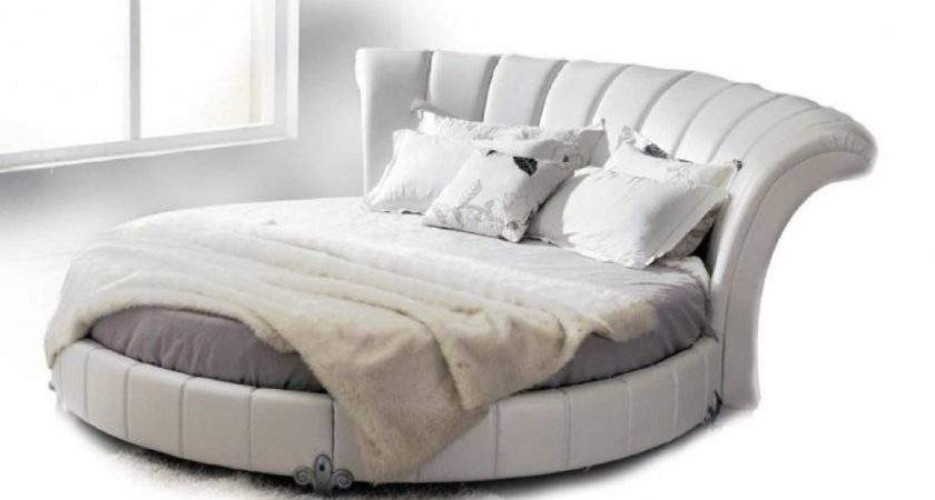 Luxurious Round Leather Beds Sale