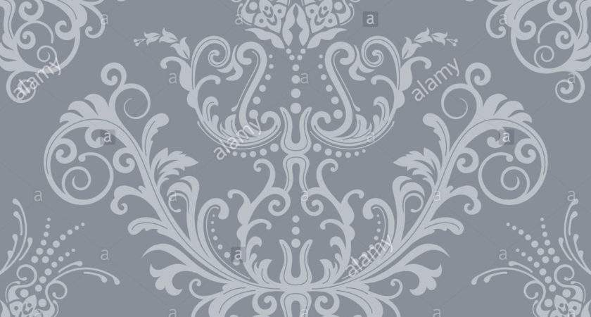 Luxury Seamless Silver Grey Floral Photos