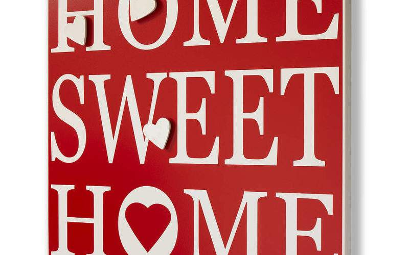 Magnetic Notice Board Home Sweet Green