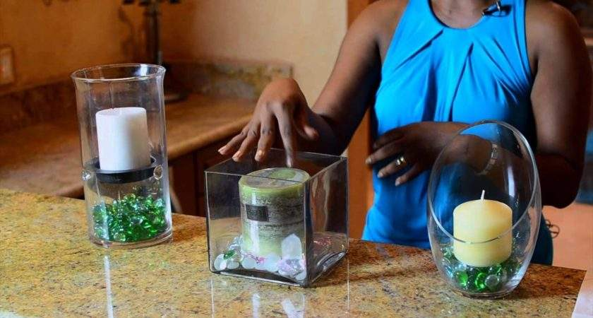 Make Candle Holder Using Glass Rocks Simple