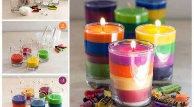 Make Crayon Candles Home Step