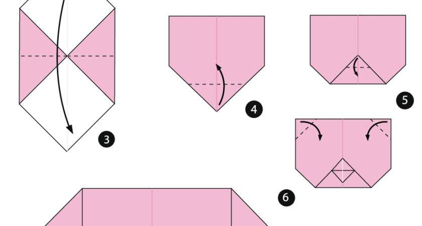Make Origami Pig Face Instructions