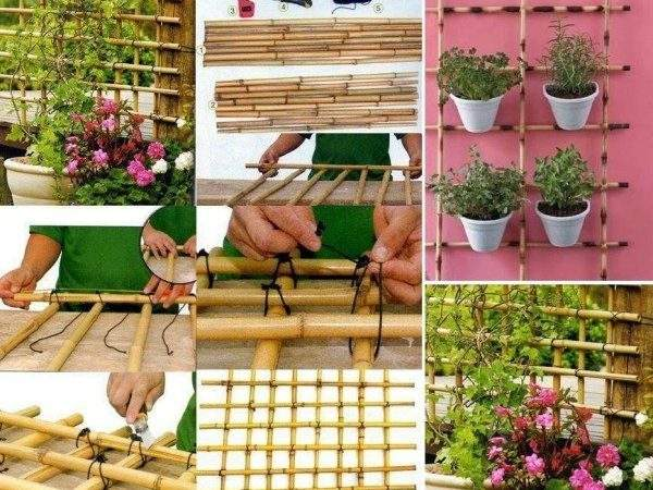 Make Trellis Out Bamboo Home Design Garden