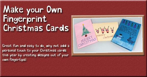 Make Your Own Fingerprint Christmas Cards Wilkolife