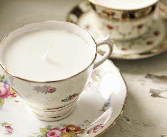 Make Your Own Teacup Candles Homemade Christmas Gifts