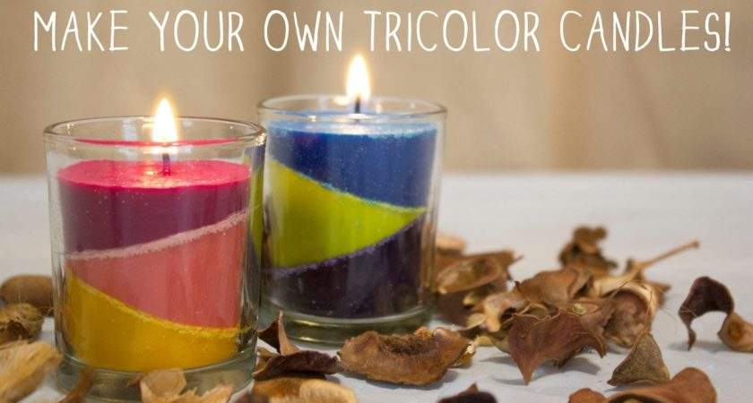 Make Your Own Tricolor Candles Diy Youtube