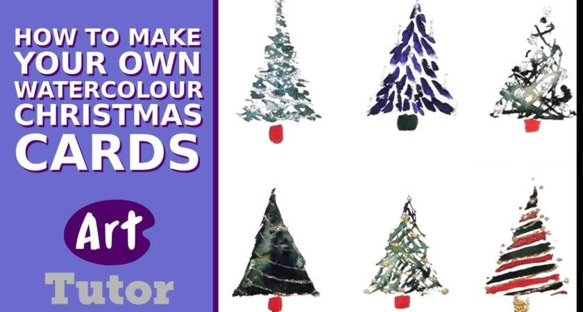Make Your Own Watercolour Christmas Cards Diy Fyi