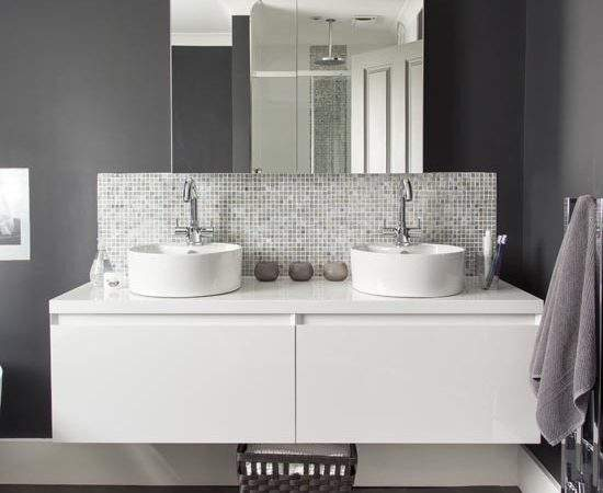 Makeover Glamorous Grey Bathroom Ideal Home