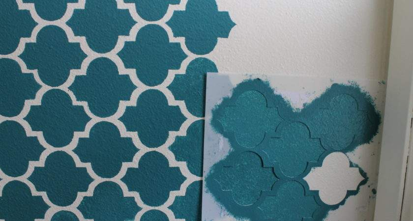 Making Big Impact Small Space Wall Stenciling