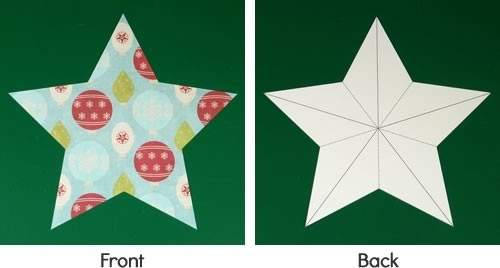 Making Christmas Decorations Easy Stars Baubles
