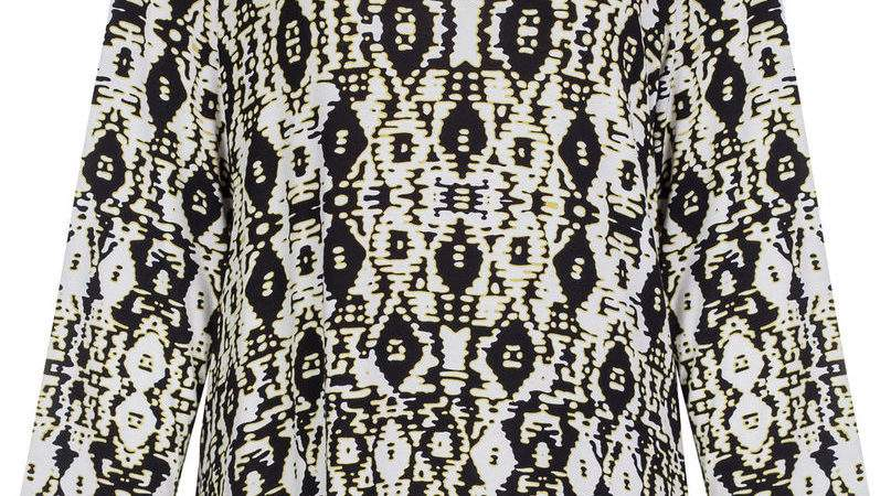 Marks Spencer Womens Aztec Print Top Sleeve New