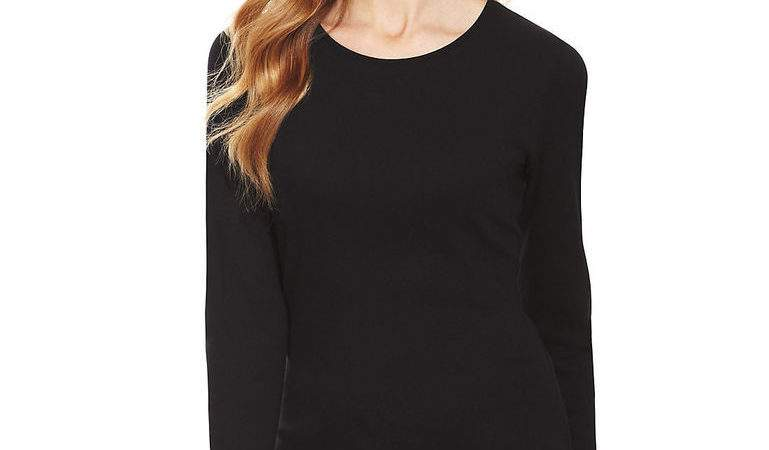 Marks Spencer Womens Pure Cotton Long Sleeve New Black