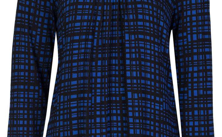 Marks Spencer Womens Soft New Check Tops Sleeve