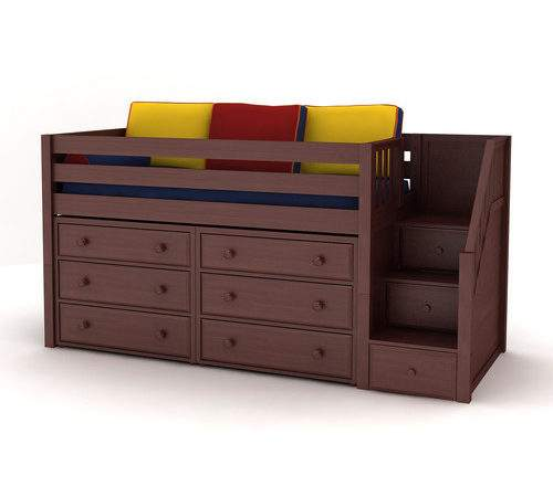 Maxtrix Kids Great Low Loft Staircase Panel Bed