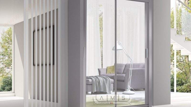 Maya Door Sliding Wide Mirror Wardrobe