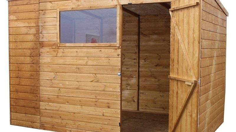 Mercia Light Brown Shiplap Pent Wooden Shed