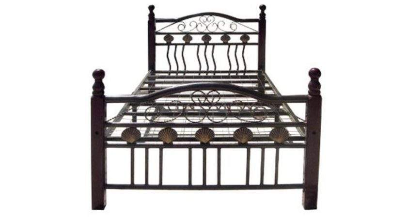 Metal Panel Four Poster Bed Bronze Finish