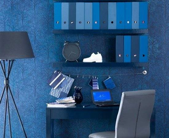 Midnight Blue Home Office Indigo Colour Schemes