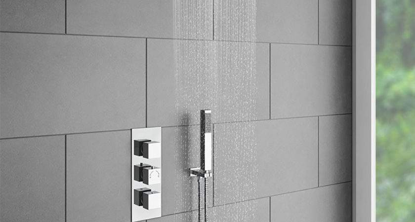 Milan Triple Thermostatic Valve Square Shower Head
