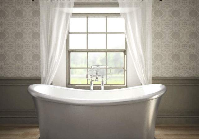 Milano Silver Double Ended Freestanding Bath