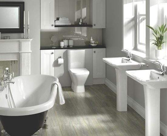 Mixing Old New Bathroom Decorating Trends