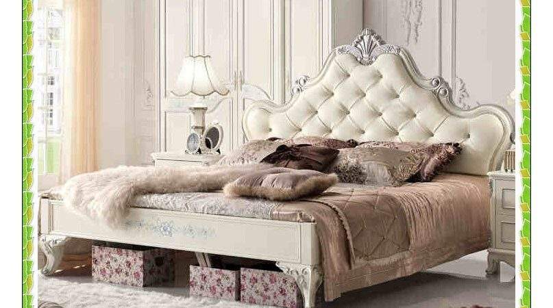 Mmx Frost White Leather Princess Bed Luxury