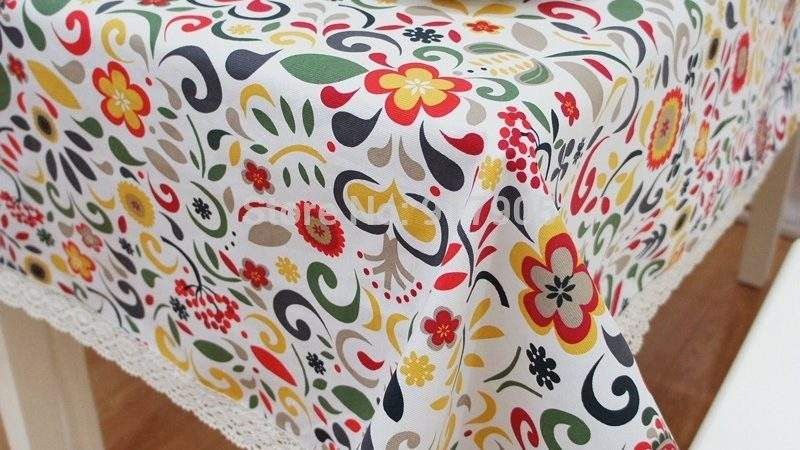 Modern American Country Style Colorful Vintage Tablecloths