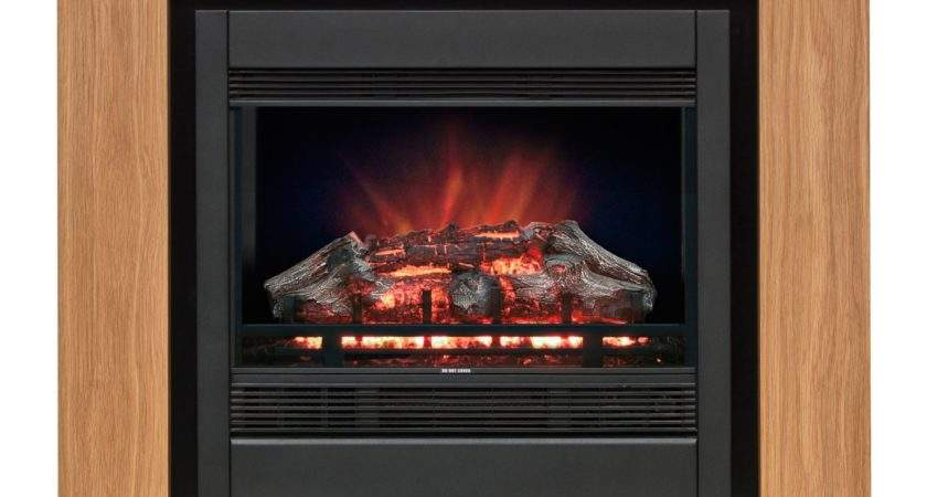 Modern Avalon Black Remote Control Electric Fire Suite