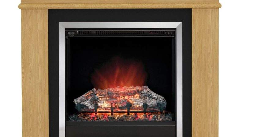 Modern Avalon Natural Led Electric Fire Suite