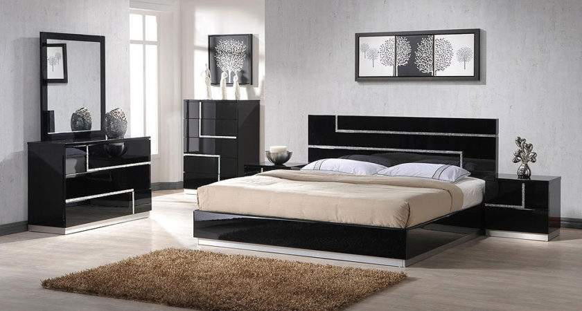 Modern Bedroom Set Beautiful Crystals