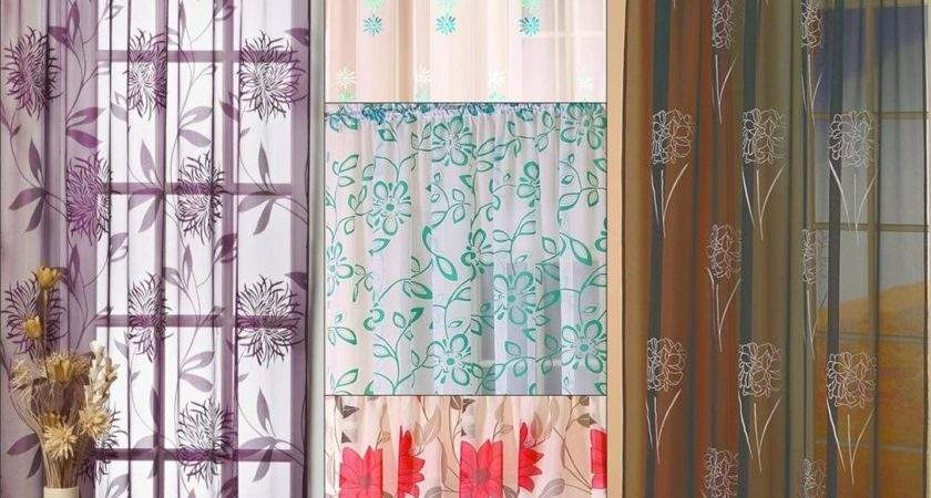 Modern Floral Voile Panel Curtains Great Designs