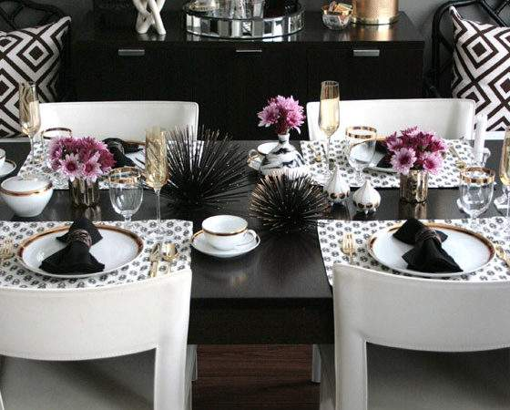 Modern Glam Table Get Look Stone Textile