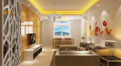 Modern Home Interior Design Living Room Yellow